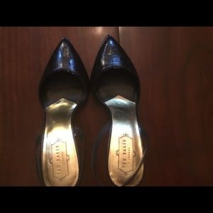 Ted Baker London Stiletto Heel Black Leather Shoes